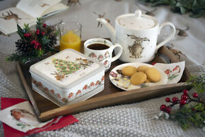 Wrendale Christmas Storage Tin with Seasonal Illustrations