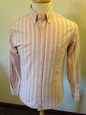 Mens Lands' End Striped Sail Rigger Oxford Cloth Button-down Shirt-S Small