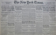 5-1930 May 11 NANKING PERIL CIVIL WAR. GANDHI INDIA TENSE. MARTIAL LAW SHERMAN.