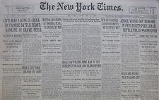 5-1930 May 11 NANKING PERIL CIVIL WAR. GANDHI INDIA TENSE. MARTIAL LAW SHERMAN.