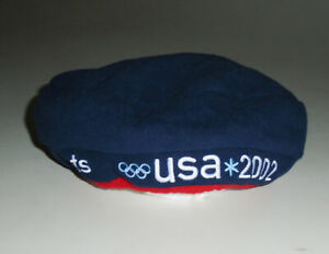 Vtg 2002 TEAM USA Olympics FLEECE Beret Hat ROOTS Official SLC Winter Unworn NWT