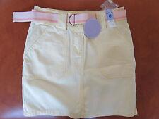 Matalan Papaya Yellow Cotton Skirt Size 8 BNWT