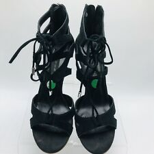 dcdc4801740 Steve Madden Womens Shoes Size 9 Lace up Zip Gingir Heels (M)