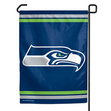 """Seattle Seahawks Authentic Polyester 11""""x15"""" Garden Yard Wall Flag NWT"""