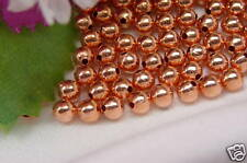 50 x COPPER ROUND BEADS, 4mm