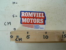 STICKER,DECAL ROMVIEL MOTORS BOEKEL MOTO ? A