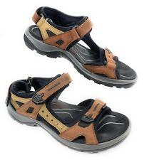 ECCO Yucatan OffRoad Leather Sandals Shoes Brown Women's 42 EUR 11-11.5 US