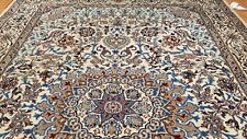 7 x 10 Ivory  naein Wool Hand Knotted Area rug