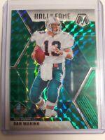 Dan Marino 2020 NFL Mosaic #292 Hall of Fame Green Mosaic Prizm Dolphins QB
