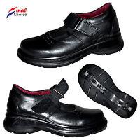 Infants Kids Children Girls School Uniform Shoes Cow Leather Boots UK Sizes Σ