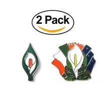 Irish Ireland Easter Rising 1916 Republican Lily Pin Badge Gift Souvenir 2 PACK
