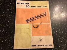 HONDA 90 Model C200 & CT200 oem FACTORY SHOP WORKSHOP MANUAL 1971