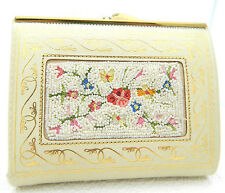 Vintage Daniel De Paris Purse Coin Billfold Wallet Heavily Beaded Crochet Clutch