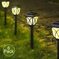 6Pcs Solar Pathway LED Lights Bright Outdoor Garden Landscape Yard Decor Gift