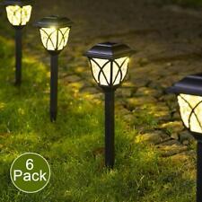 6Pcs Solar Pathway LED Lights Bright Outdoor Garden Landscape Yard Decor Gift