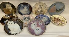 10 Vintage Decorative Plates - Cat Kitten Worcester Hamilton Ws George Rockwell