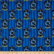 Camelot Harry Potter Digital Ravenclaw Multi 100% cotton fabric by the yard