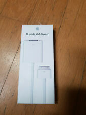 APPLE Genuine 30-Pin To VGA ADAPTER Connector iPAD iPOD iPHONE TV Monitor -BNIB-