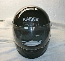 RAIDER Black Full Face Snowmobile  ATV Motorcycle Helmet A-622  ~ XXL  (our #22)