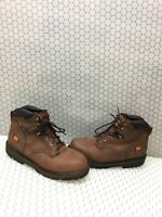 """Timberland PRO PIT BOSS 6"""" Brown Leather Soft Toe Lace Up Work Boots Men's 15 M"""