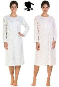 Ladies Long Sleeve Warm Cuddleknit Soft Brushed Nightdress Christmas Gift Idea