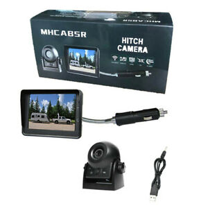 Plug Play Rear View Parking Camera System Kit w/3.5In Car LCD Monitor Waterproof