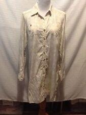 Sigrid Olsen Womens Size Medium Tunic Long Sleeve Button Front DD13