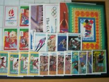 OLYMPIC GAMES 1992,BRITISH COMMONWEALTH SELECTION OF 5 U/MINT SETS, EXCELLENT.