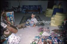 Kid Boy Gets Evel Knievel Stunt Cycle Toy For Christmas Vtg 1975 Slide Photo