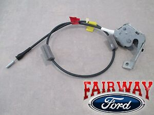 97 thru 04 F-150 Super Cab OEM Ford Rear Door Upper Latch w/ Cable RH PASSENGER