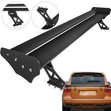 """Universal 52"""" Adjustable Aluminum GT Double Deck Racing Spoiler Wing Black"""