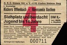 Ticket II. BL 81/82 Kickers Offenbach - Alemannia Aachen, 15.08.1981