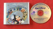 LES GRANDES CHANSONS FILMS WALT DISNEY 21 BAMBI ALADDIN 1996 BON ÉTAT CD