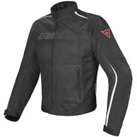 Dainese Men's Hydra Flux Air D-Dry Motorcycle Jacket Black/White Size 52 EU