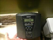 Sony Cd Player Dual Alarm Clock Fm/Am Radio MegaBass Black Icf-Cd833 Tested