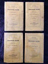 Histoire de la vie et des voyages de Christophe Colomb - Irving 1836-Rare 4 vols