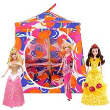 Multi color, heart print Toy Play Folding Dollhouse, 2 Sleeping Bags, handmade