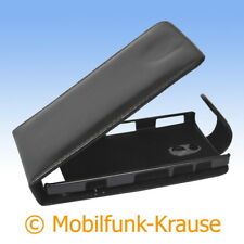 Flip Case Etui Handytasche Tasche Hülle f. Sony LT22 / LT22i (Schwarz)