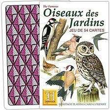 Oiseaux des Jardins (French language) set of 52 playing cards + jokers (hpc)