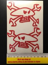 2x Red TT Guy Martin Stickers 100mmX72mm Sticker Decal Helmets,Tank