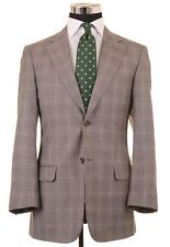 Valentino Gray Glen Plaid Check Wool Cashmere Sport Coat Jacket 38 R