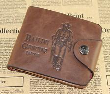 men Bifold Leather Wallet Pockets Card Clutch Cente Money Clip Holder Purse wf58