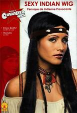 NATIVE AMERICAN INDIAN South Western Sexy Girl Women BLACK HAIR WIG Costume New