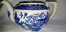 1920-1930 Burleigh Ware Made in England Blue Willow Teapot