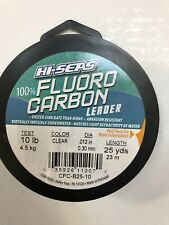 Hi Seas 100% Fluoro Carbon Leader Clear 10lb Test 25yds New