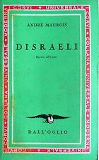 ANDRÉ MAUROIS DISRAELI DALL'OGLIO 1953