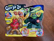 Heroes of Goo Jit Zu Water Blast Versus 2 Pack - Golden Blazagon Vs Rockjaw -New
