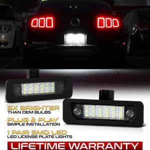 [F'King Bright] 10-14 Mustang 08-11 Focus 09-18 Flex LED License Plate Lamp Pair