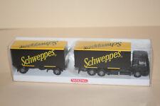 Wiking 1:87 5730336 Modell MAN Wechselkoffer-Lastzug / Schweppes   OVP