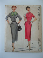 1950s VTG McCalls Dress Pattern #9571  Size 12/Bust 30  UNCUT